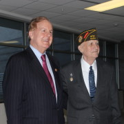 Congressman Pittenger and Garland Denny announce new legislation for Veterans.